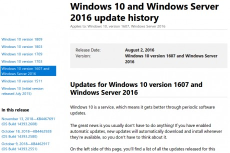 Windows-update-history-page
